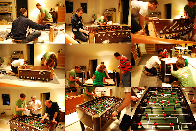foosball collage