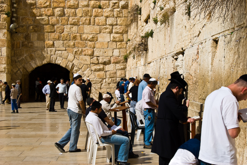 praying at the western wall 2