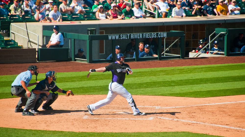 giambi and his home run swing